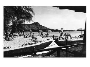 Hawaii - O'ahu Island; Diamond Head from Outrigger Canoe Club by Lantern Press