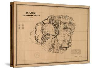 Hawaii - Panoramic Kauai Island Map by Lantern Press