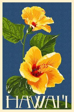 Hawaii - Yellow Hibiscus Flower by Lantern Press