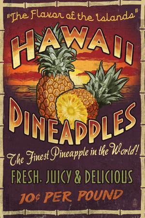Hawaiian Pineapple by Lantern Press