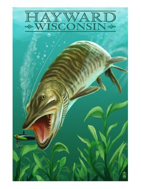 Hayward, Wisconsin - Muskie by Lantern Press