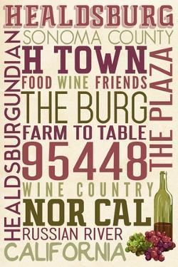 Healdsburg, California - Typography by Lantern Press