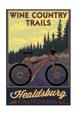 Healdsburg, California - Wine Country Trails by Lantern Press