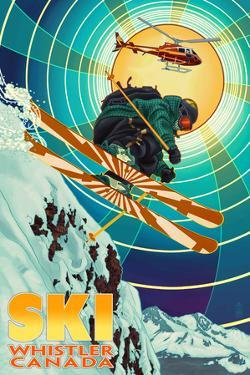 Heli-Skiing - Whistler, Canada by Lantern Press
