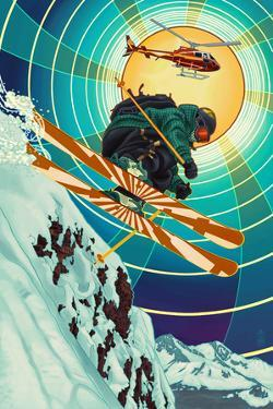 Heli-skiing by Lantern Press