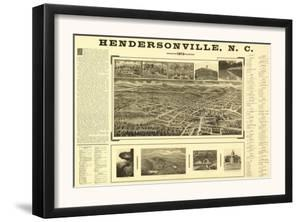 Hendersonville, North Carolina - Panoramic Map by Lantern Press