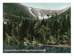 Hermit Lake, NH - View of Tuckermans Ravine, Mt. Washington by Lantern Press