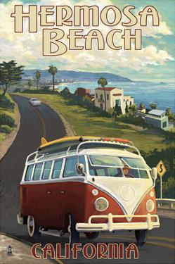 Hermosa Beach, California - VW Van Cruise by Lantern Press