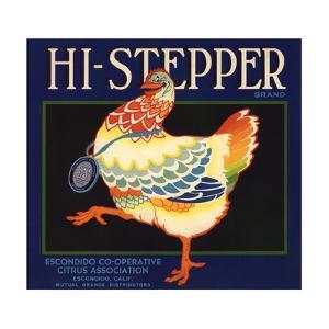 Hi Stepper Brand - Escondido, California - Citrus Crate Label by Lantern Press