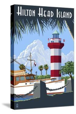 Hilton Head Island, SC - Harbour Town Lighthouse by Lantern Press
