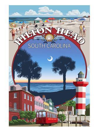 Hilton Head, South Carolina - Montage by Lantern Press