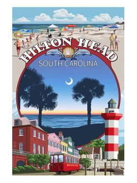 Hilton Head, South Carolina - Montage by Lantern Press