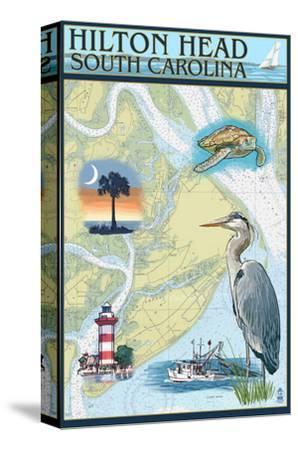 Hilton Head, South Carolina - Nautical Chart by Lantern Press