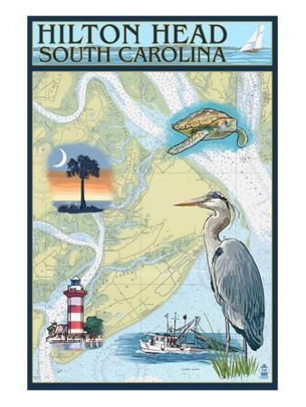 Hilton Head, South Carolina - Nautical Chart
