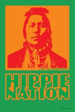 Hippie Nation - John Van Hamersveld Poster Artwork by Lantern Press