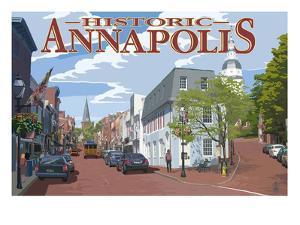 Historic Annapolis, Maryland Street View by Lantern Press