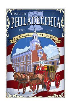 Historic Philadelphia - Carriage by Lantern Press