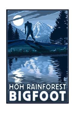 HOH Rainforest, Washington - Bigfoot by Lantern Press