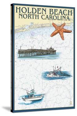 Holden Beach, North Carolina - Nautical Chart by Lantern Press