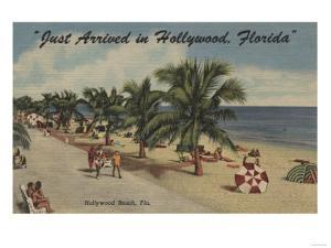Hollywood Beach, Florida - View of Beach by Lantern Press