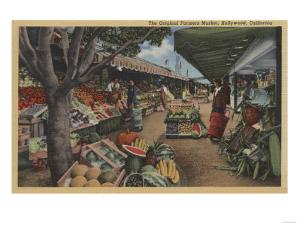 Hollywood, CA - View of Original Farmer's Market by Lantern Press