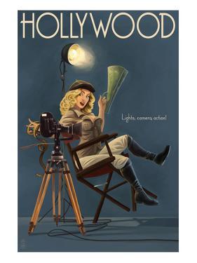 Hollywood, California - Directing Pinup Girl by Lantern Press