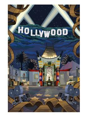 Hollywood, California Scenes by Lantern Press