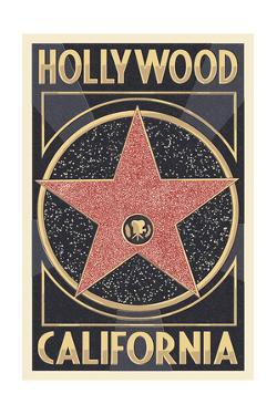 Hollywood, California - Star by Lantern Press