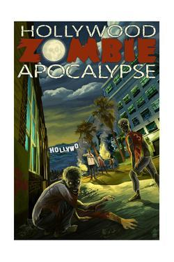 Hollywood, California - Zombie Apocalypse by Lantern Press