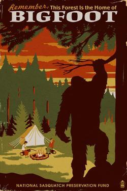 Home of Bigfoot - WPA Style by Lantern Press