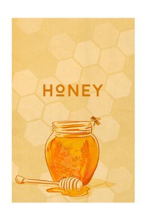 Honey Jar - Letterpress by Lantern Press