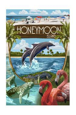 Honeymoon Island, Florida - Montage by Lantern Press