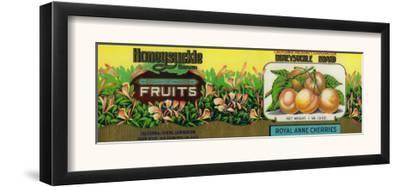 Honeysuckle Cherry Label - San Francisco, CA by Lantern Press