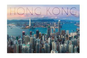 Hong Kong, China - Aerial View by Lantern Press