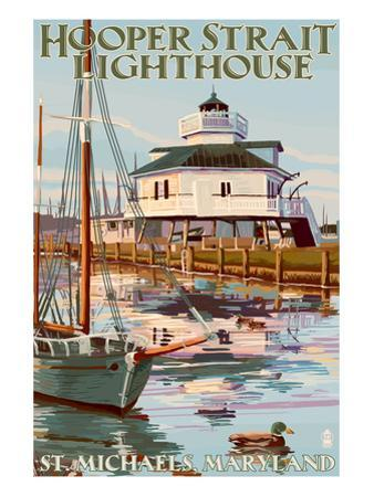 Hooper Strait Lighthouse - St. Michaels, MD by Lantern Press