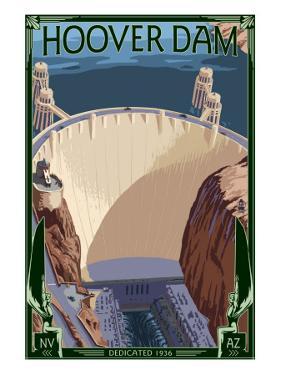 Hoover Dam Aerial by Lantern Press