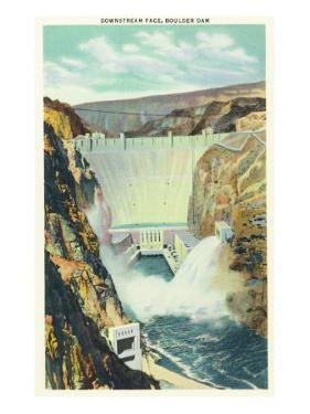 Hoover Dam, Nevada, Panoramic View of the Downstream Face of the Dam by Lantern Press