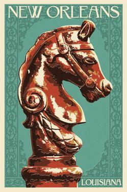 Horse Head Hitch - New Orleans, Louisiana by Lantern Press