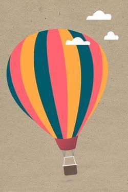 Hot Air Balloon by Lantern Press