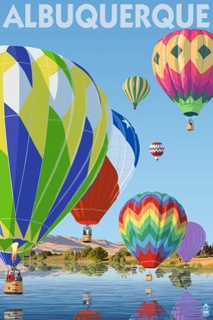 Hot Air Balloons - Albuquerque, New Mexico by Lantern Press