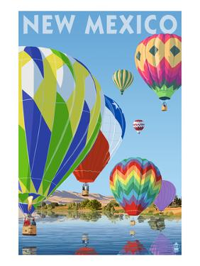 Hot Air Balloons - New Mexico by Lantern Press