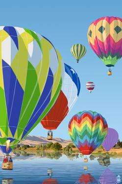 Hot Air Balloons by Lantern Press
