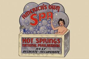 Hot Springs National Park, Arkansas - Americas Own Spa - Vintage Advertisement by Lantern Press