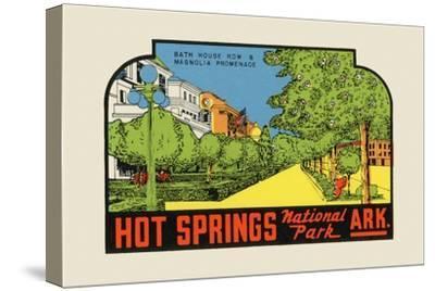 Hot Springs National Park, Arkansas - Bath House Row - Vintage Advertisement