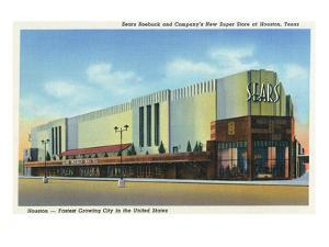 Houston, Texas - Exterior View of Sears Roebuck and Co Department Store by Lantern Press