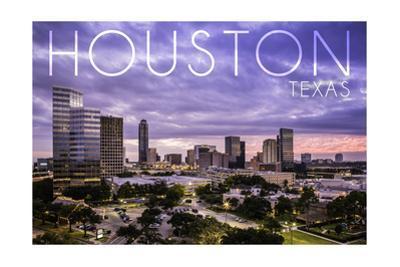 Houston, Texas - Skyline at Dusk by Lantern Press