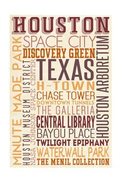Houston, Texas - Typography by Lantern Press