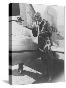 Howard Hughes Pilot Boarding Plane in Full Uniform Photograph - Newark, NJ by Lantern Press