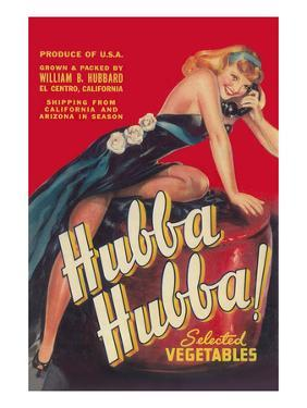 Hubba Hubba - Vegetable Crate Label by Lantern Press