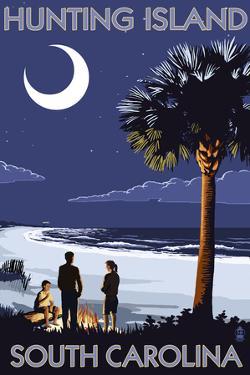 Hunting Island, South Carolina - Palmetto Moon by Lantern Press
